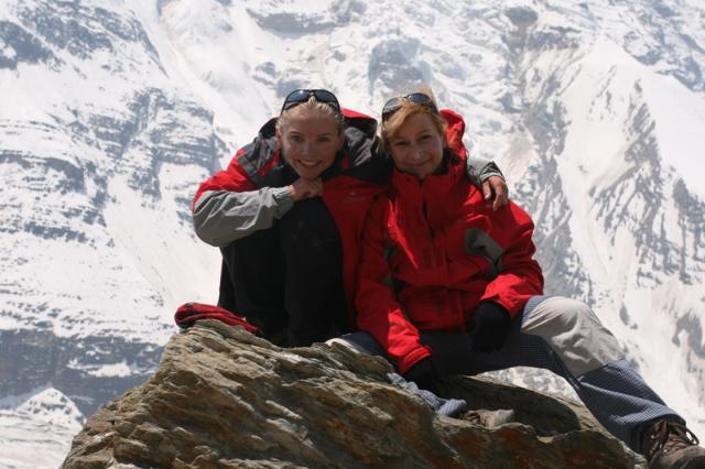 inga Baranowska i Kasia Skłodowska podczas wyprawy na Dhaulagiri w 2008 roku, fot. kingabaranowska.com