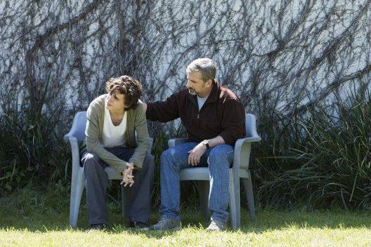 """Timothée Chalamet jako Nic Sheff i Steve Carell jako David Scheff w filmie """"Mój piękny syn (Beautiful boy)"""""""