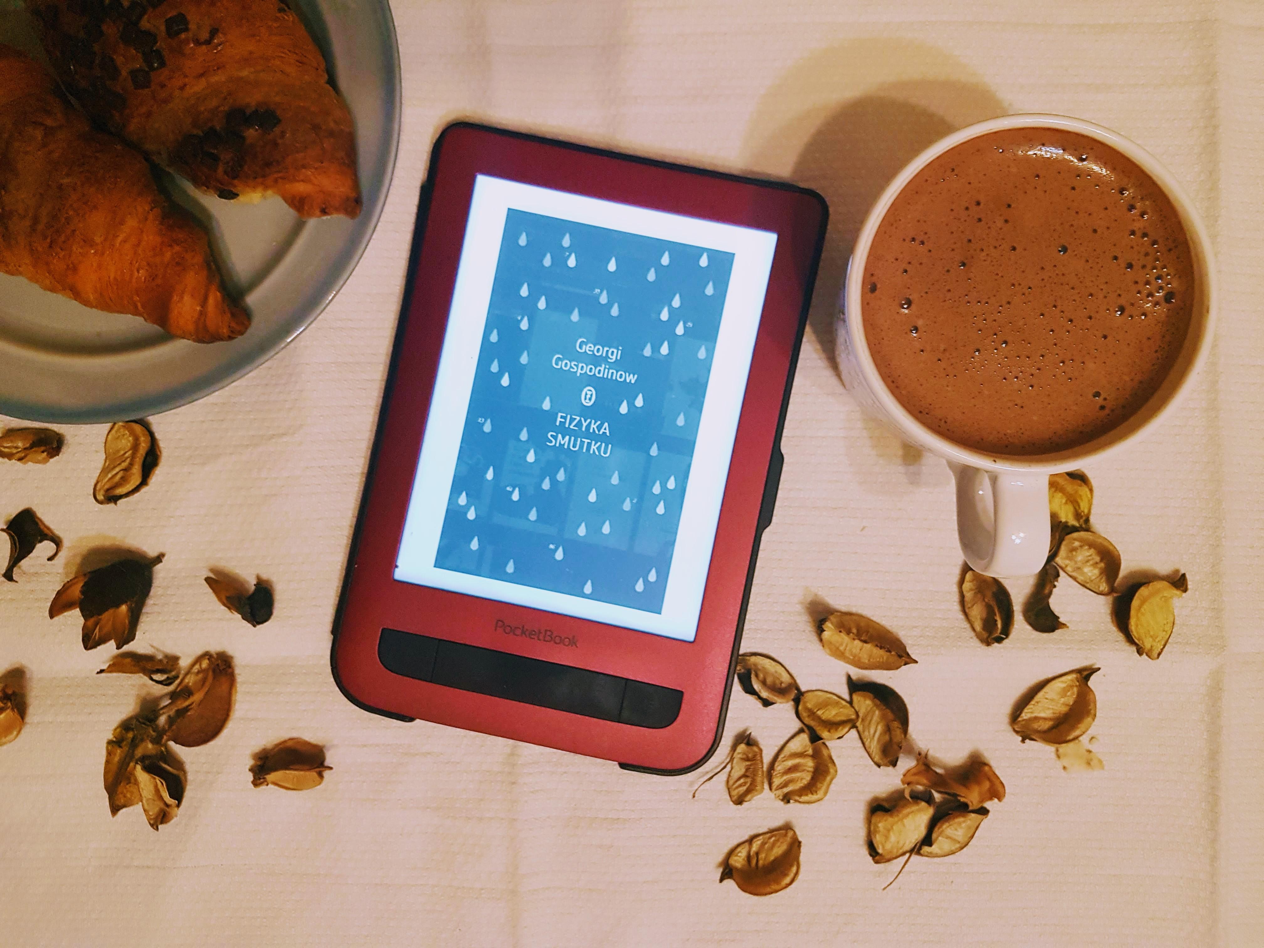 """Geogri Gospodinow """"Fizyka smutku"""" - czytnik Pocketbook Touch Lux 3"""