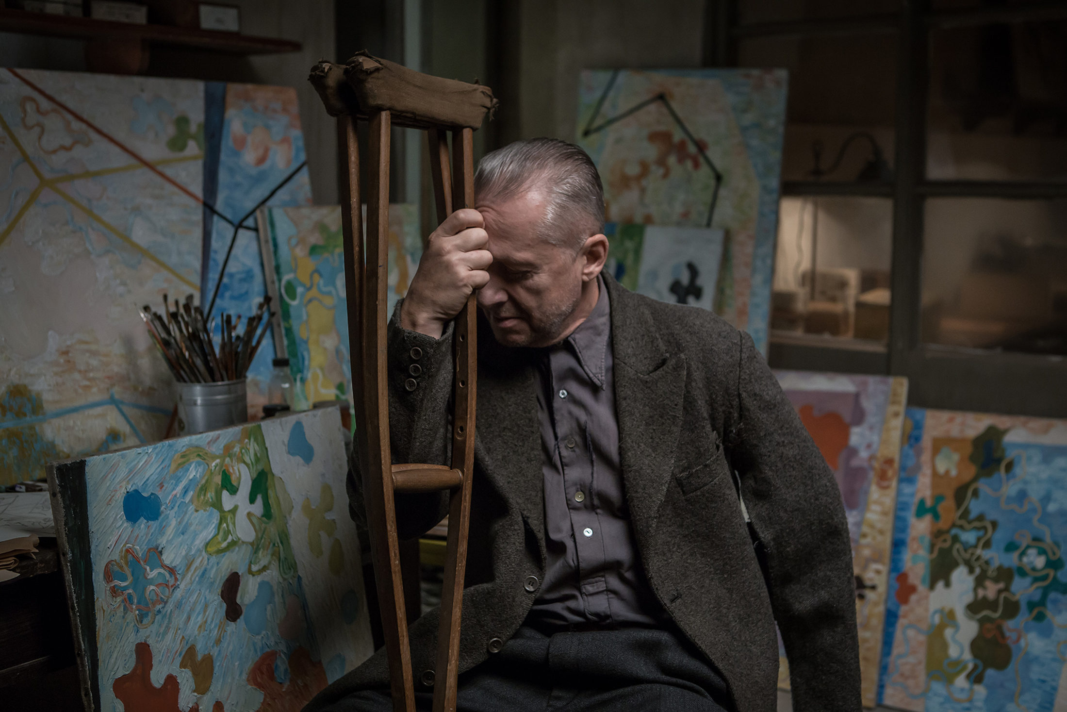 Powidoki, reż. Andrzej Wajda, Bogusław Linda w roli Władysława Strzemińskiego