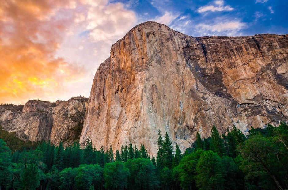 El-capitane - formacja skalna o ponad kilometrowej wysokości położona w dolinie Yosemite, w środkowej Kalifornii