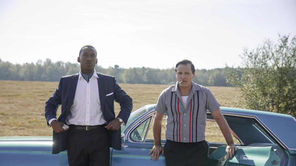 """Green Book"" reż. Peter Farelly; Viggo Mortensen jako Frank ""Tony Wara"" Vallelonga i Mahershal Ali jako Don Shirley"