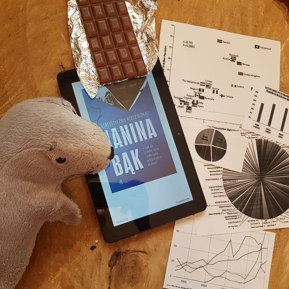 """""""Statystycznie rzecz biorąc..."""" Janina Bąk, Wydawnictwo W.A.B. - foka mówi, że to dobra książka jest"""